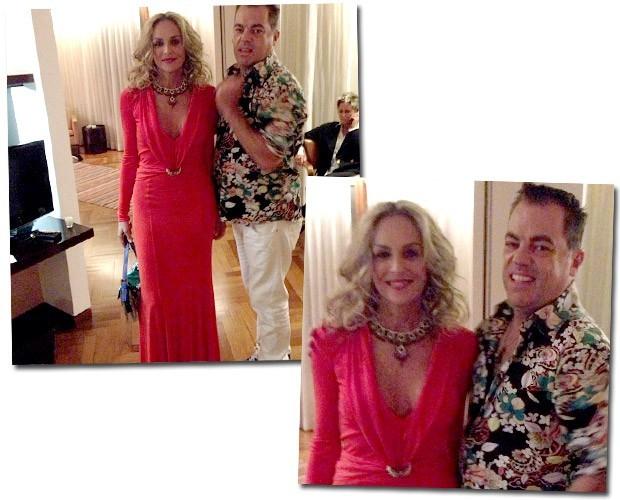 Sharon Stone e Marco Antônio (Foto: Reprodução/ Instagram)