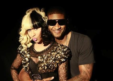 Usher e Nicki Minaj (Foto: Divulgao)