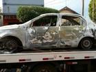 Veículo usado em ataque a banco é achado incendiado em Ituverava, SP