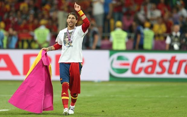 Sergio Ramos espanha final da euro 2012 (Foto: Getty Images)
