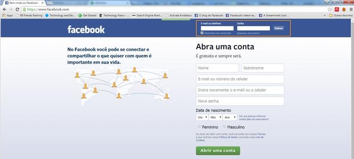 Acesse a conta do Facebook pelo Chrome (Foto: Reprodução/Barbara Mannara)