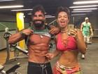 Laura Keller e Jorge Sousa mostram corpo sarados em foto na web