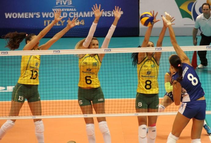 Brasil x Rússia, vôlei (Foto: FIVB)