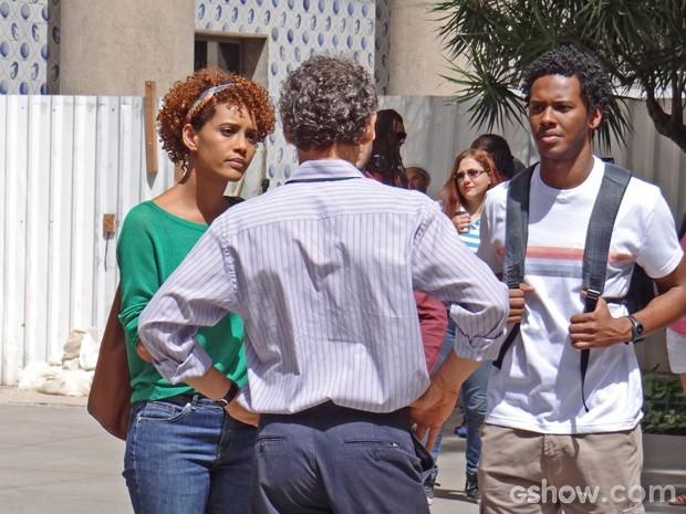 Taís Araújo grava no centro do Rio  (Foto: Geração Brasil / TV Globo)