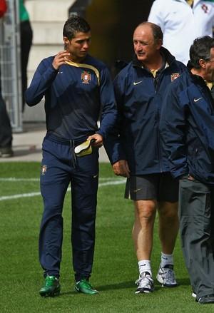 CR7 e Felipão na seleção portuguesa (Foto: Alex Livesey/Getty Images)