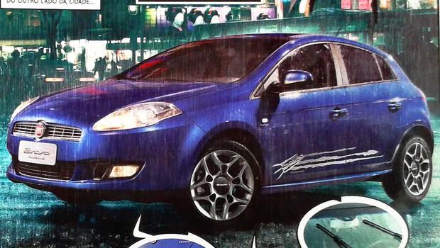Edição especial Fiat Bravo Wolverine acompanha estreia do filme no país (Foto: Reprodução)