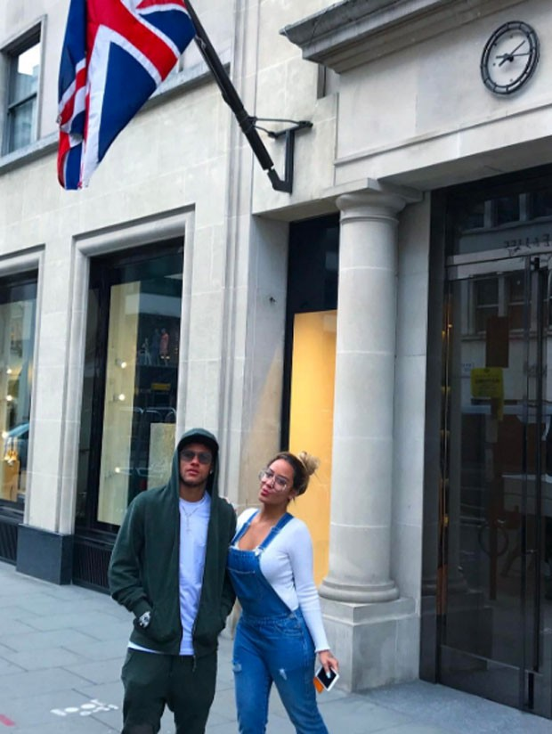 Neymar e Rafaella (Foto: Reprodução)