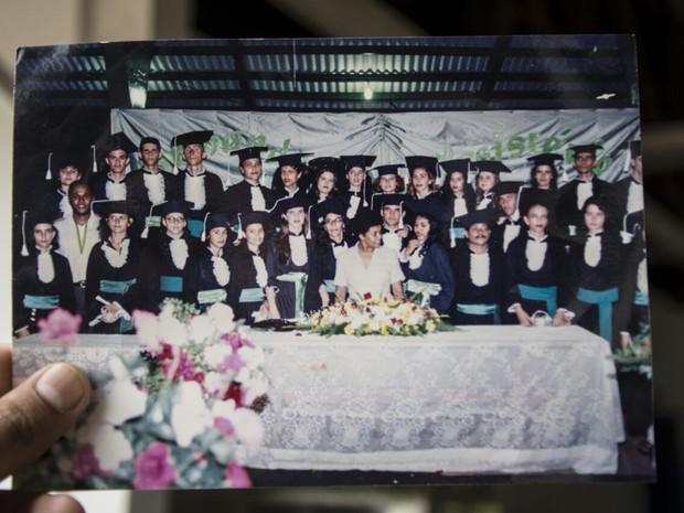 Foto mostra alunos de magistério em 1996 (Foto: Arquivo Pessoal)