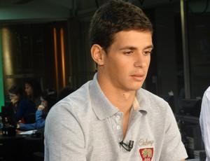 Oscar durante entrevista ao Arena Sportv (Foto: Tomás Hammes / GLOBOESPORTE.COM)