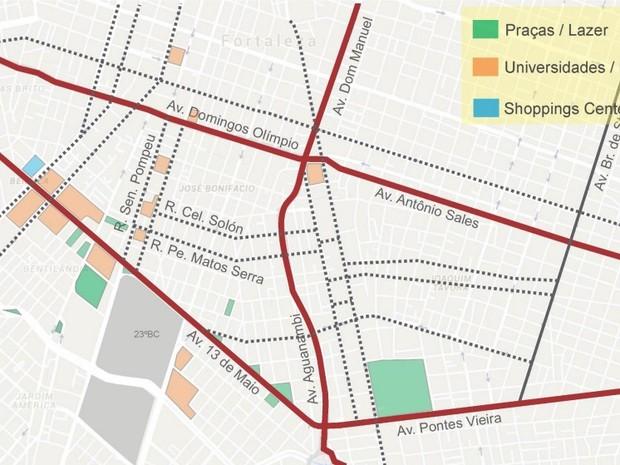 Quatro bairros de Fortaleza receberão novos binários (Foto: Reprodução)