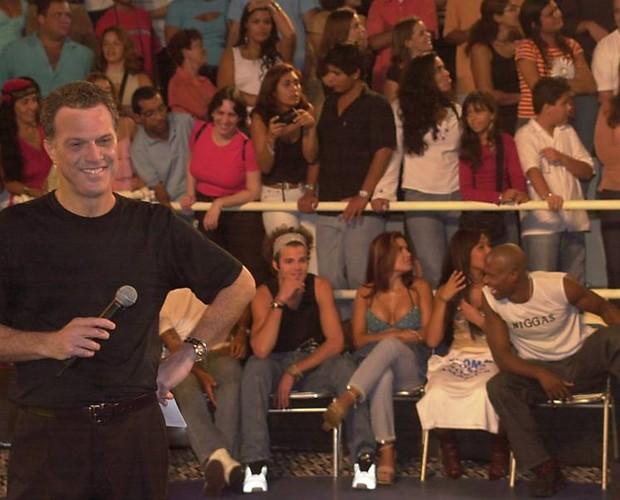 Pedro Bial no BBB 3 (Foto: Divulgação/TV Globo)