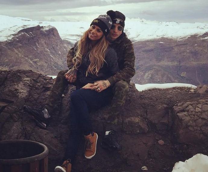 Lexa e Guimê curtem o frio do Chile (Foto: Arquivo Pessoal)