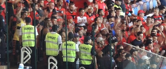 torcida protesto contra diretoria do Flamengo (Foto: Cahê Mota)