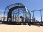 Réveillon: palco principal na praia de Copacabana, no Rio, já está montado