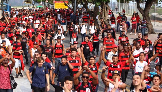 torcida flamengo aeroporto (Foto: Gilvan Souza - Divulgação, Flamengo)