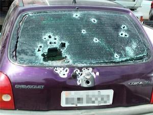 carro detento caxias do sul baleado 50 tiros (Foto: Divulgação/Brigada Militar)