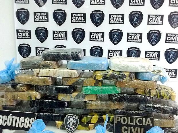 Droga foi avaliada em R$ 650 mil pela Polícia Civil (Foto: Divulgação/Senarc-MA)