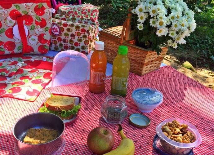 Veja como preparar uma lancheira no Mistura com Camille Reis (Foto: RBS TV/Divulgação)