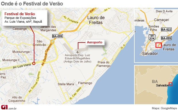 Festival de Verão de Salvador - Mapa (Foto: Festival de Verão de Salvador - Mapa)