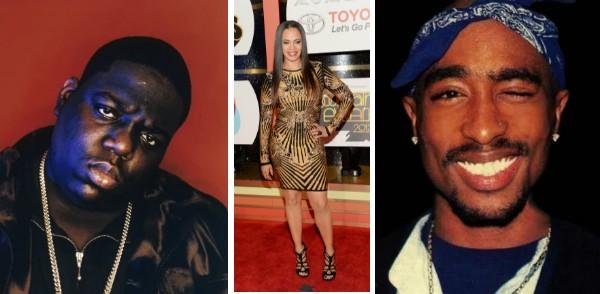Notoriou B.I.G., Faith Evans e Tupac (Foto: Reprodução/Getty Images)