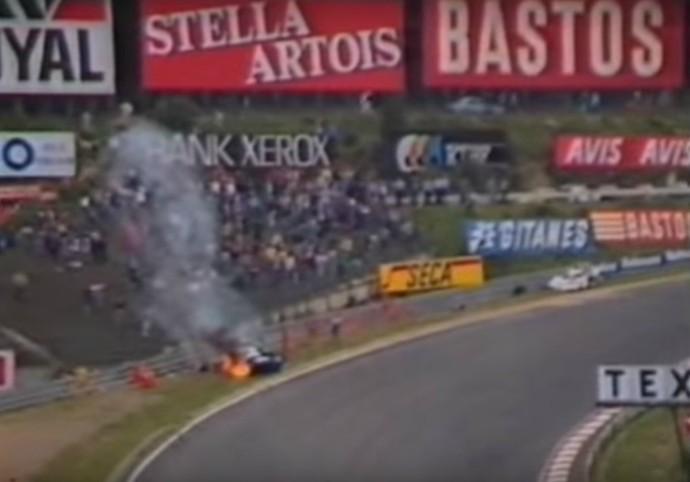 Stefan Bellof não resistiu ao acidente durante os 1000 km de Spa-Francorchamps, no dia 1º de setembro de 1985 (Foto: Reprodução / Twitter)