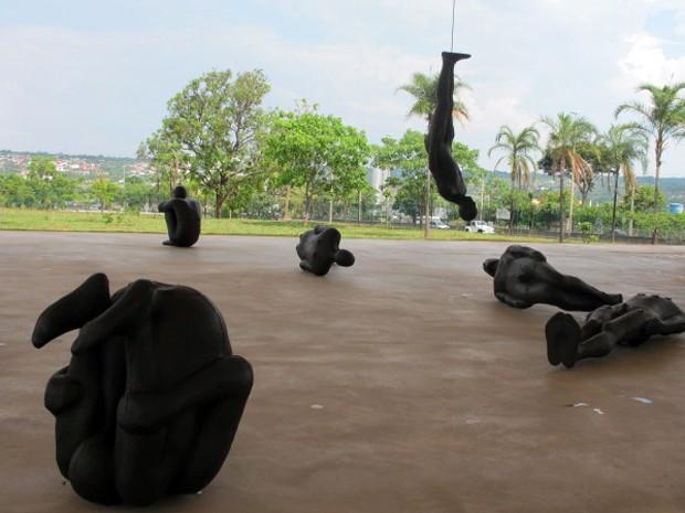 Obra de Antony Gormley no Centro Cultural Banco do Brasil de Brasília (Foto: Jamila Tavares / G1)