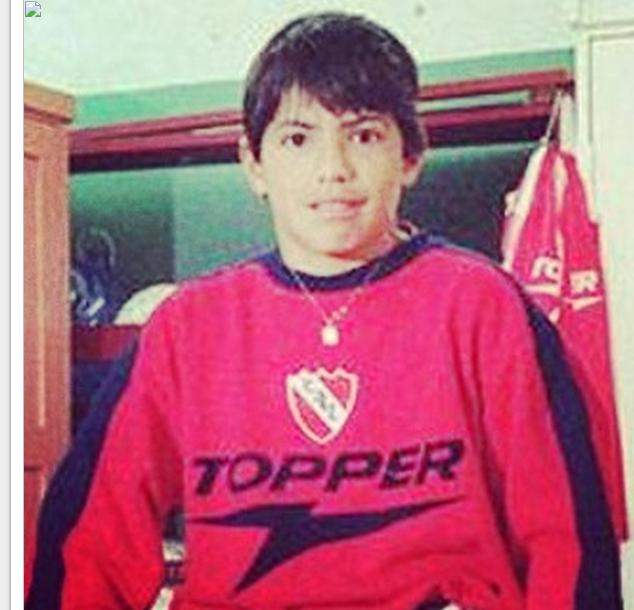 Aguero Independiente criança camisa
