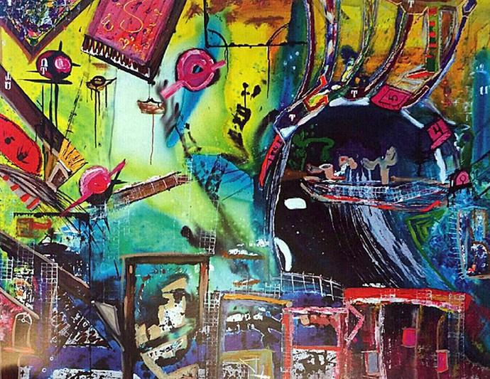 Uma das obras do pintor Carlinhos Brown  (Foto: Arquivo Pessoal)