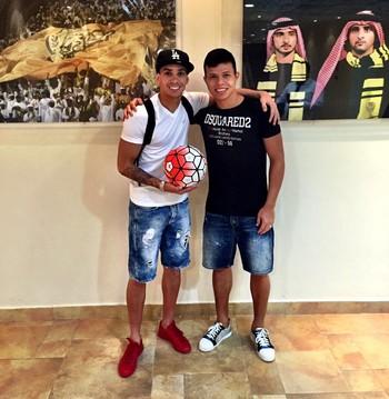 Caio Canedo e Fabio Lima Al Wasl (Foto: Divulgação / Arquivo pessoal)
