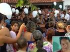 Comoção e homenagem marcam enterro de professora achada morta
