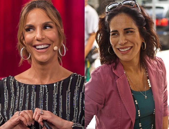 Ivete Sangalo e Gloria Pires: parecidas? (Foto: Artur Meninea/Gshow e Divulgação/Globo)