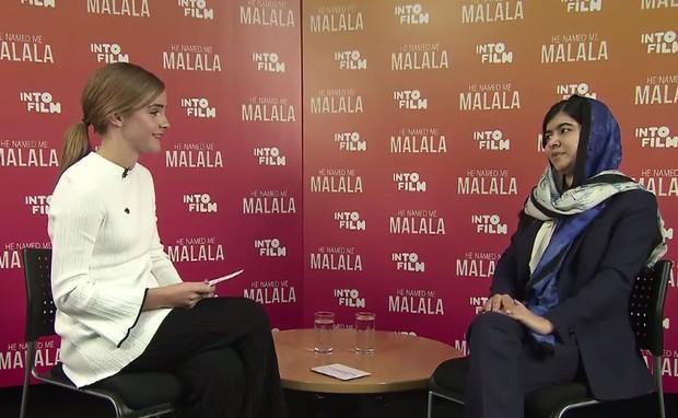 Emma Watson e Malala  (Foto: Facebook / Reprodução)