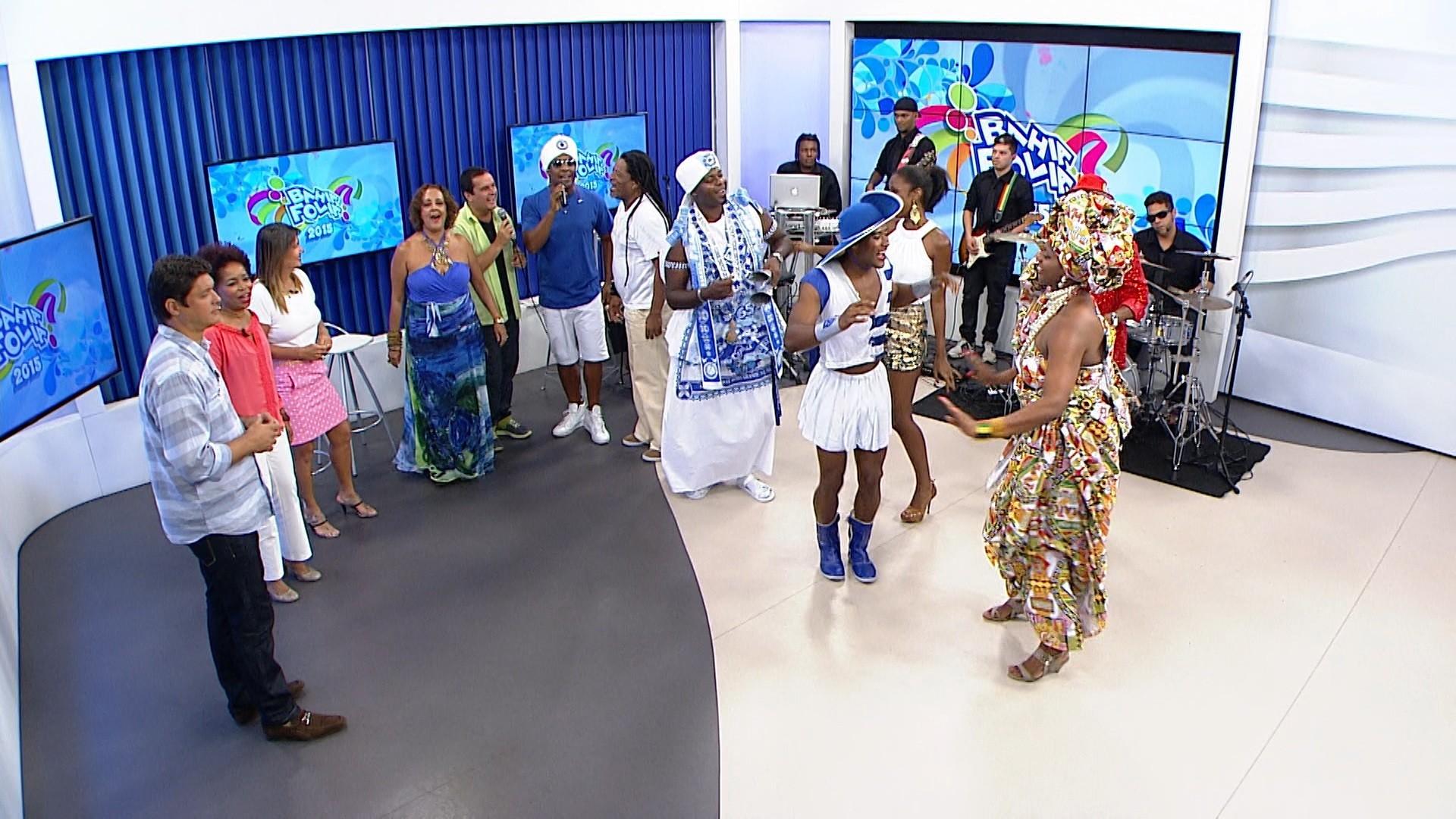 Convidados participam da gravação do programa especial de Pré Carnaval (Foto: divulgação)