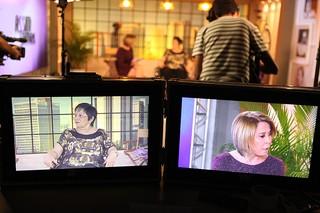 Bastidores da gravação do programa da Zilu (Foto: Marcos Serra Lima / Ego)