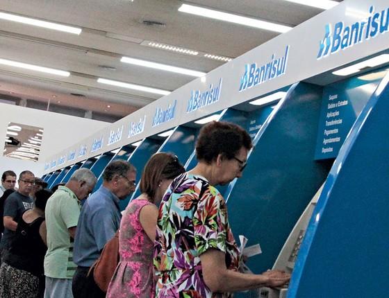 O Banrisul,sexto maior banco do país ,é a única estatal que está fora dos planos de privatização do RS (Foto:  Itamar Aguiar/Agência Freelancer/Folhapress)