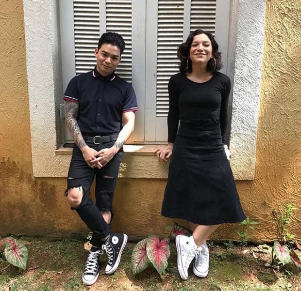 Yudi Tamashiro e Priscilla Alcantara (Foto: Reprodução/Instagram)