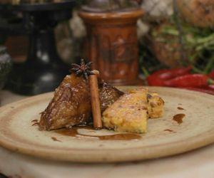 Paleta de cordeiro e polenta com chorizo