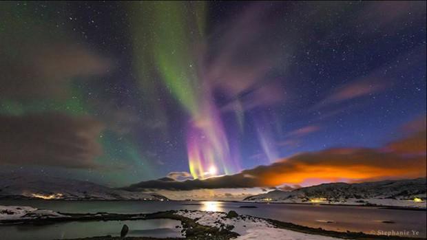 A categoria Beleza do Céu Noturno foi vencida por pela chinesa Stephanie Ye, de China, com sua foto de uma aurora boreal fotografada em Tromso, Noruega. (Foto:  Stephanie Ye)