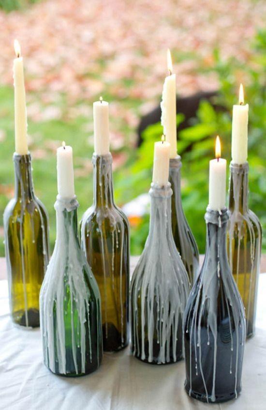 Vela na garrafa (Foto: Reprodução/Pinterest)