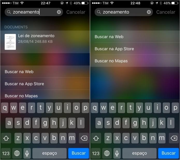 Aprenda a desativar a busca em aplicativos no iOS 9 (Foto: Reprodução/Helito Bijora)
