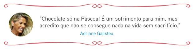 Cardápio das famosas - Adriane Galisteu (Foto: EGO)