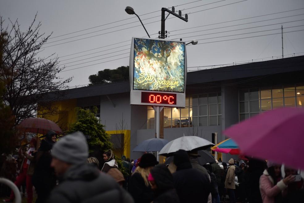 São Joaquim registra 0ºC nesta segunda-feira  (Foto: FOM CONRADI/MAFALDA PRESS/ESTADÃO CONTEÚDO)