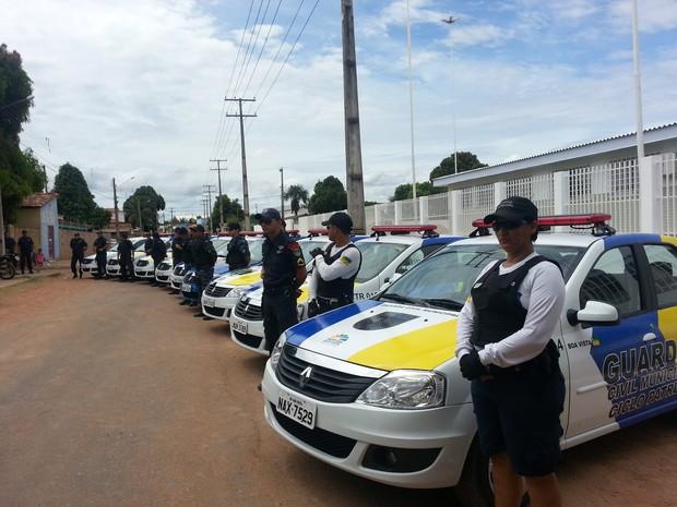 A Guarda Civil Municipal de Boa Vista é formada por 278 homens divididos em grupamentos (Foto: Neidiana Oliveira/G1)