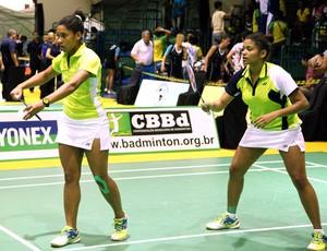 Lohaynny Vicente e Luana Vicente Badminton (Foto: Divulgação)