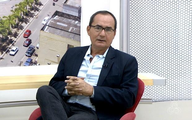 Apresentador do Jornal do Acre, Ayres Rocha, participou do Bom Dia Amazônia nesta terça-feira (1º) (Foto: Bom Dia Amazônia)