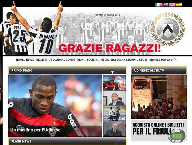 Willians é confirmado no Udinese  (Foto: Reprodução / Site Oficial)