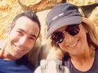 Ticiane Pinheiro e Tralli comemoram a Páscoa: 'Selfie com coelhinho'