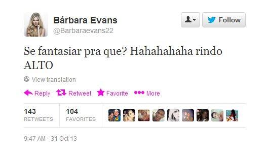 Barbara Evans (Foto: Twitter/Reprodução)