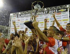 Troféu Título CRB Campeonato Alagoano (Foto: Viviane Leão/GLOBOESPORTE.COM)