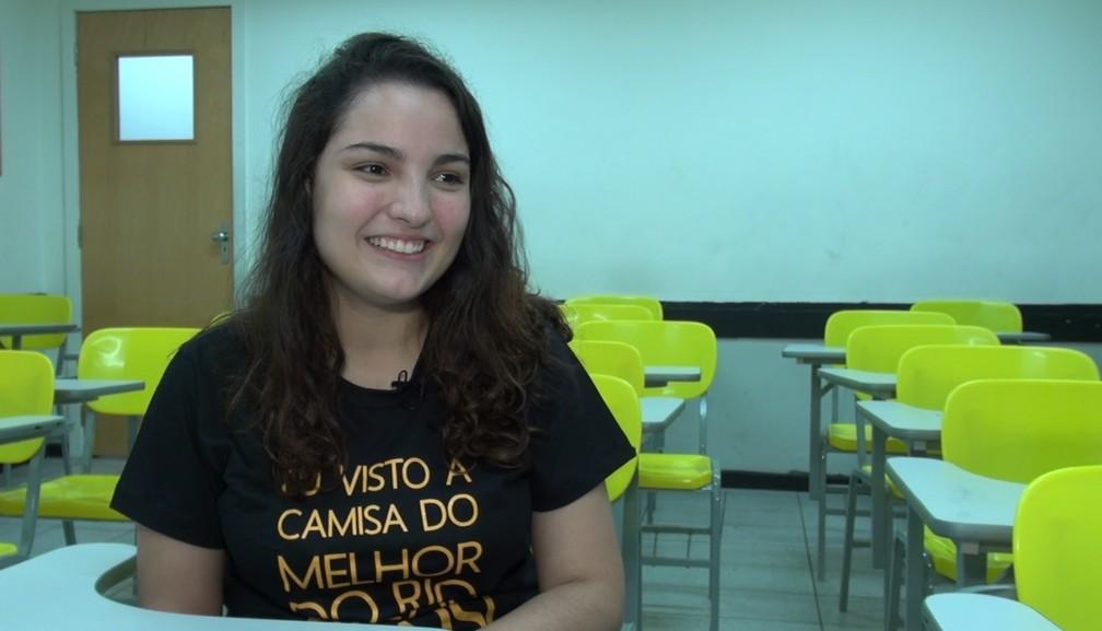 Estudante quer tentar Direito na Uerj (Foto: Reprodução/G1)